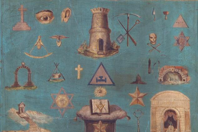 Detail from tracing board ©Museum of Freemasonry