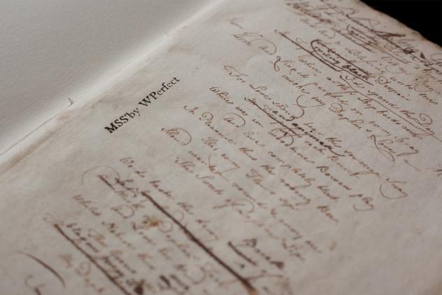 William Perfect Manuscript cover ©Museum of Freemasonry