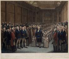 Bartholomew Ruspini leading schoolchildren, Freemasons' Hall, 1802 ©Museum of Freemasonry, London