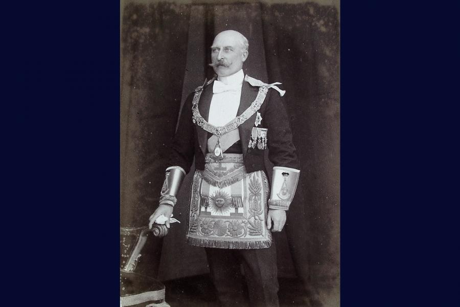 Duke of Connaught portrait in regalia ©Museum of Freemasonry, London
