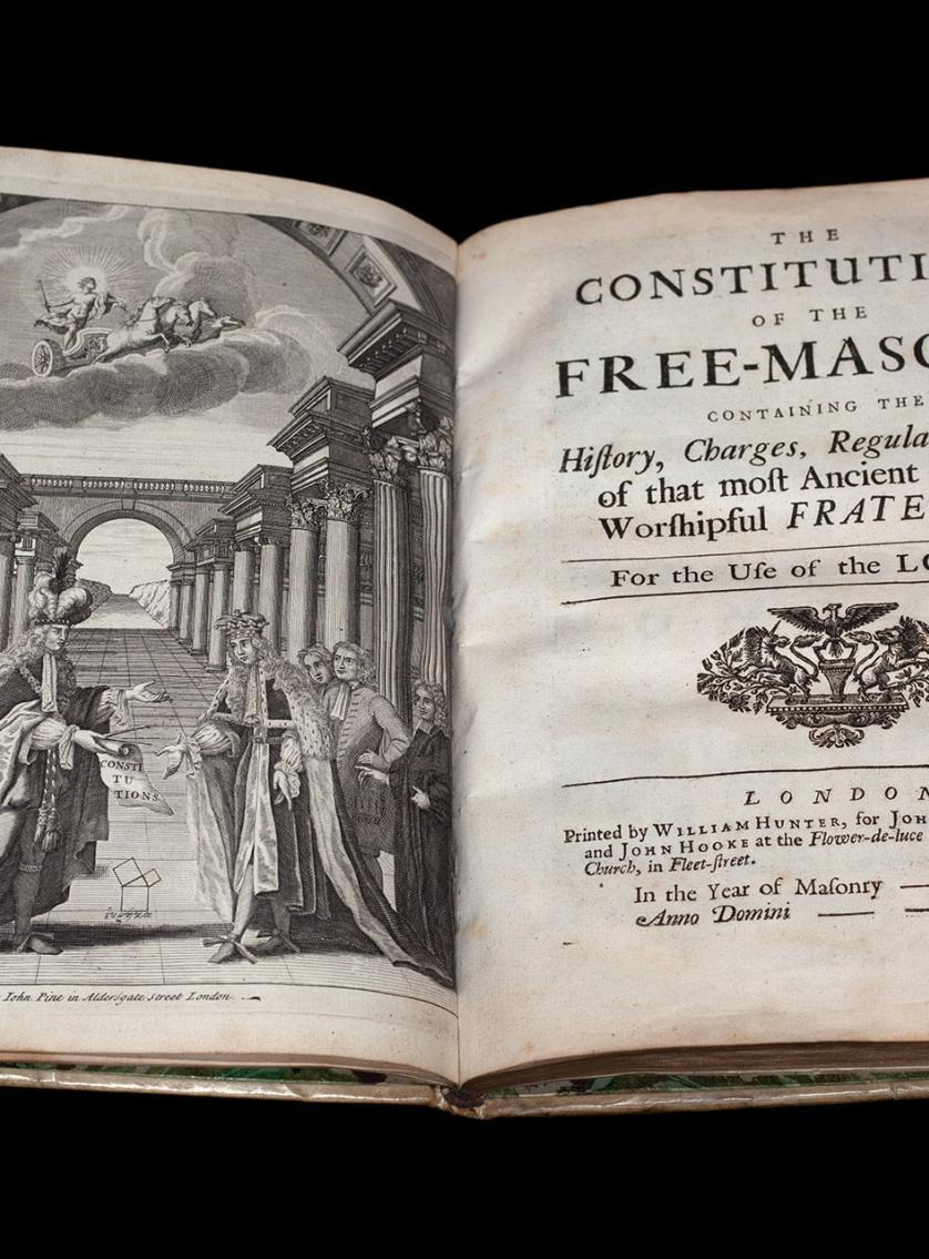The Constitutions of the Free-Masons, 1723 ©Museum of Freemasonry, London