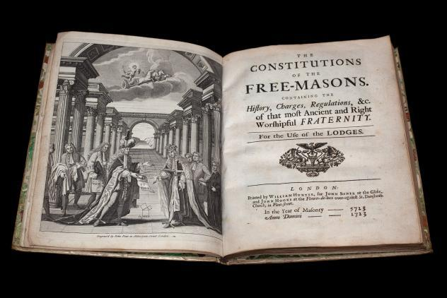 Constitutions of the Freemason, 1723 ©Museum of Freemasonry
