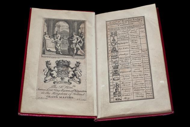 List of regular lodges, 1729 ©Museum of Freemasonry