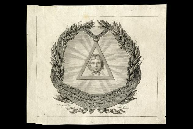 Lodge of the Nine Muses Concert Ticket (1783) ©Museum of Freemasonry