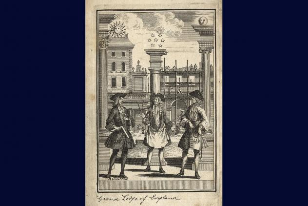 Frontispiece from Constitutions, 1731 ©Museum of Freemasonry