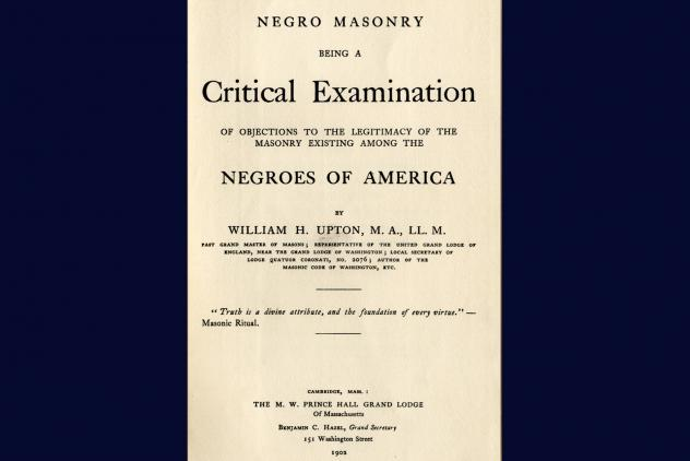 Upton's report Negroes of America (1902) ©Museum of Freemasonry