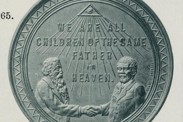 Prince Hall freemasonry commemorative medal ©Museum of Freemasonry