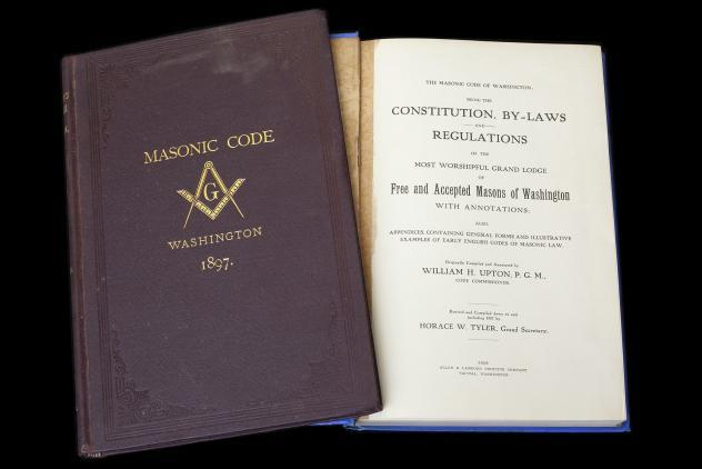 Grand Lodge of Washington books by William H. Upton ©Museum of Freemasonry