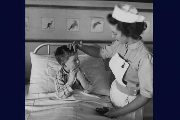 A student nurse attends a young patient ©Museum of Freemasonry, London