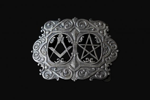 Nurse's belt buckle for The Royal Masonic Hospital ©Museum of Freemasonry, London