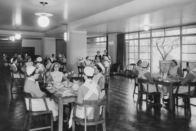 Nurses in dining area at Royal Masonic Hospital ©Museum of Freemasonry, London