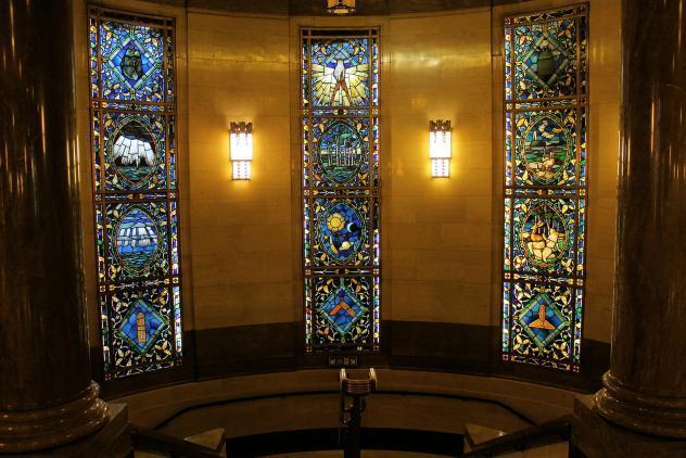 Monmouthshire windows, Freemasons' Hall, ©Museum of Freemasonry