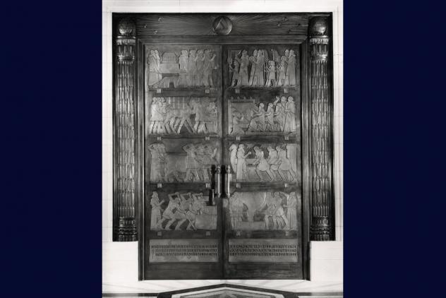 Grand Temple doors, Freemasons' Hall, ©Museum of Freemasonry