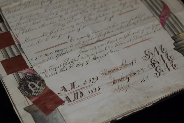 Royal Arch certificate, 1825 ©Museum of Freemasonry, London