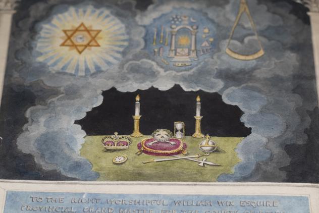 Illuminated address to William Wix ©Museum of Freemasonry, London
