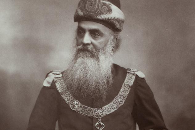 DP Cama, Grand Treasurer, 1887 ©Museum of Freemasonry, London