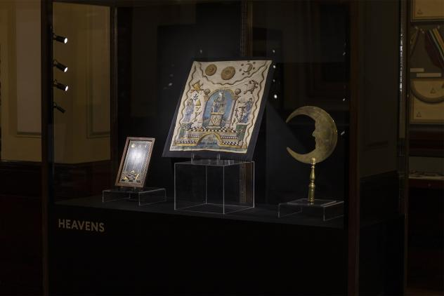 Display from Phases by Lumen at Museum of Freemasonry ©Lumen and Museum of Freemasonry, London 2020