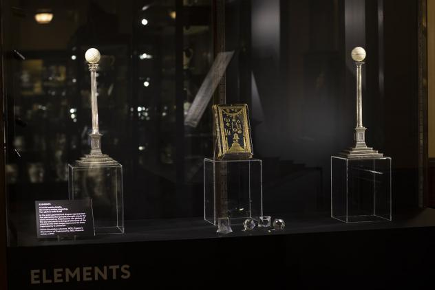 Elements display from Phases by Lumen at Museum of Freemasonry ©Lumen and Museum of Freemasonry, London 2020