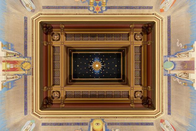Grand Temple ceiling, Freemasons' Hall ©Museum of Freemasonry