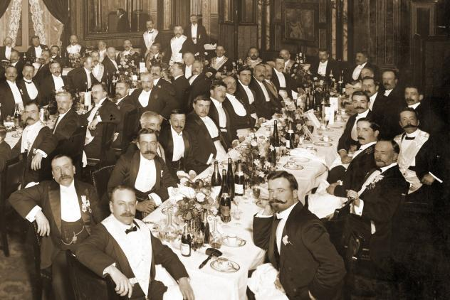 Hortus Lodge No2469 installation banquet (1907) ©Museum of Freemasonry
