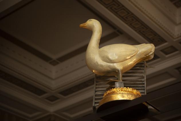 Replica of Goose and Gridiron Tavern sign, 2017 ©Museum of Freemasonry, London