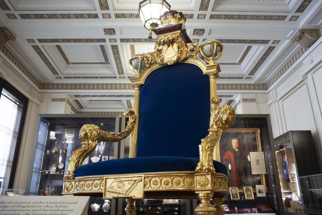 Grand Master's throne, North Gallery ©Museum of Freemasonry