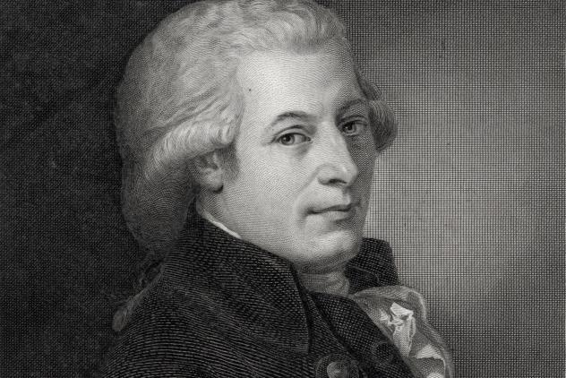 Wolfgang Amadeus Mozart, engraving by L. Sichling, 1789 ©Museum of Freemasonry, London