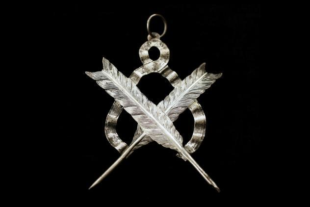 Lodge Secretary's collar jewel, ©Museum of Freemasonry, London