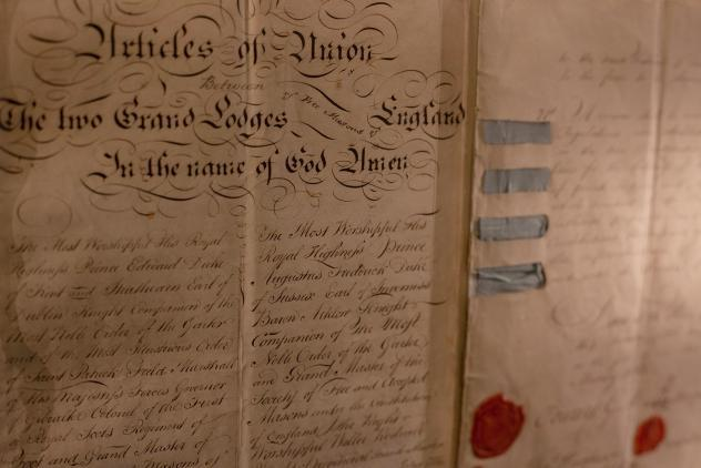 Articles of Union (1813) ©Museum of Freemasonry