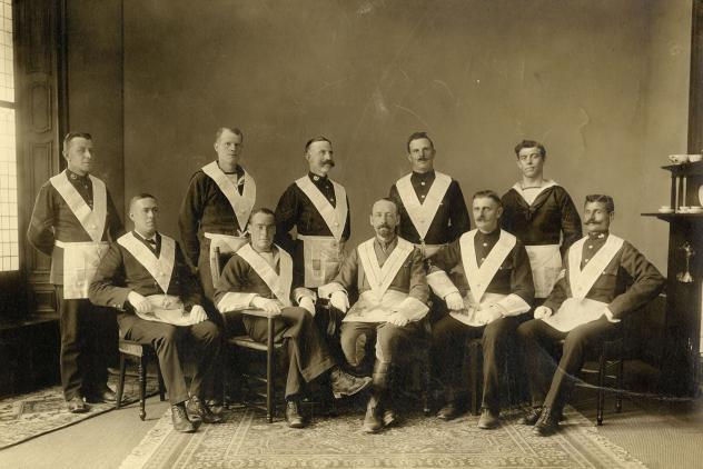 Gastvrijheid Lodge No113 founding officers (1915) ©Museum of Freemasonry