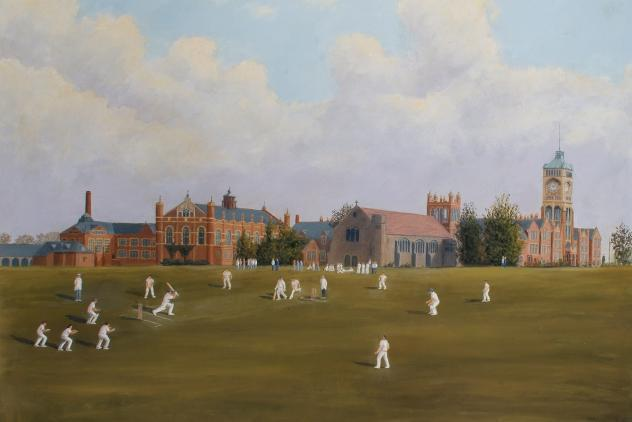 Royal Masonic Boys School Cricket Match, Bushey, 1948 by M. J. Allsop ©Museum of Freemasonry, London