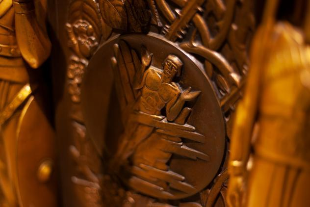 Detail from the Roll of Honour at Freemasons' Hall ©Museum of Freemasonry